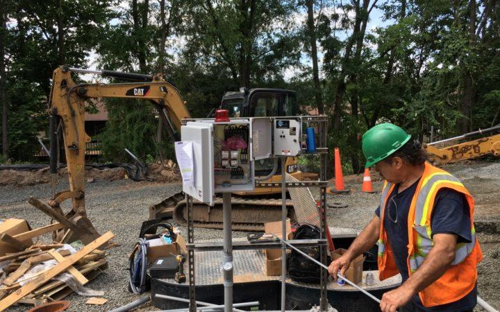 Pump station installation